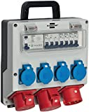 Brennenstuhl Wandverteiler IP44 (Stromverteiler zur Wandbefestigung 32A, mit...