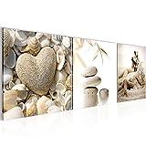 Wandbild Feng Shui Muscheln Bilder 120 x 40 cm Vlies - Leinwand Bild XXL Format Wandbilder...