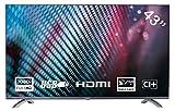 Yasin YT43FTB1 43 Zoll (108 cm) TV LED-Fernseher (Full HD, Triple Tuner, HEVC CI+, Mediaplayer via...