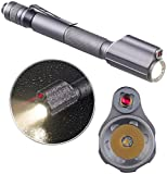 KryoLights Laserpointer: 2in1-Profi-Pen-Light, LED-Taschenlampe & Laser-Pointer, 110 lm, 3 W...