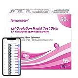 Femometer 50 Ovulationstests 20 miu/ml, Sensitive Fruchtbarkeits-Vorhersage Teststreifen, Genaue...