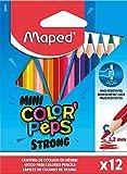 Maped - ergonomische Drei-Kant-Buntstifte, Farbstifte COLOR'PEPS STRONG MINI - besonders stabile...