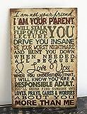 DKISEE Holzschild I Am Your Parent, lustiges Familienschild, dekoratives Holzschild, Holz, 01, 12x18...