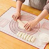 Sinwind Silikonmatte Silikon Backmatte Baking Mat BPA frei Nonstick mit Messungen Fondant Teig Gebck...