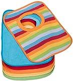 Bieco Baby Schlupf Lätzchen, 6er Pack mit Klettverschluss in tollen Farben für Junge und Mädchen,...