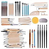 Hakkin 61 teilig Töpferwerkzeug Set Keramik Ton Werkzeugsatz,die Skulptur Schnitzen Werkzeug...