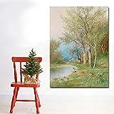 GJQFJBS Hd Wand Kunstdruck Leinwand Natur Landschaft Ölgemälde Poster Auf Leinwand Schlafzimmer...