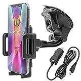 Mobilefox KFZ SET 360 Universal Handy Halterung Auto Halter fr die Windschutzscheibe mit Micro USB...
