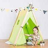 NIHAOA Kinderspielburg Childens Spiel-Zelt Geeignet for Innen- und Außen for Kinder Teepee Zelt for...