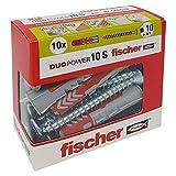 Fischer–Dübel Duopower mit Schraube, grau, 544018