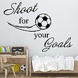 JXMN Anpassbare Farbgröße 98x100cm Exquisite Fußball Wandaufkleber Schlafzimmer Dekoration...