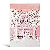 WISHMADE Laser Cut Trees Hochzeitseinladungen Karte 20 Stück Braut und Bräutigam Design Elegante...