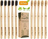 Bambus Zahnbürsten 10 Pack Holzzahnbürste Zahnbürste Holz Bambuszahnbürste Set 100% BPA Freie...