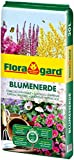 Floragard Blumenerde 20 L - Universalerde für Zimmer-, Balkon- und Kübelpflanzen - mit Ton und...