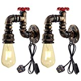 Vintage Wandleuchte, Industriebeleuchtung Verstellbare Fassung Rustikale Wandlampen Indoor Home...