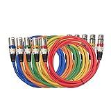 3pin xlr kabel stecker auf buchse m/f audio kabel board + geflochtene abschirmung mikrofon mixer...