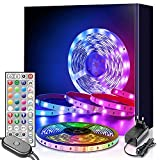 led strip 6m, Mexllex 6m RGB LED Streifen Lichtband mit Fernbedienung, Farbänderung LED Band...