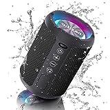 Ortizan Kabelloser Bluetooth Lautsprecher mit LED Licht - Tragbarer Lautsprecher Bluetooth...