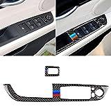 Kohlefaser-Abdeckleiste, Auto-Carbon-Faser-Fensterheber Verkleidung mit Klappschlüssel BMW Farbe...