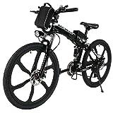 ANCHEER Elektrofahrrad 26Zoll/20Zoll Zoll E- Bike Mountainbike, 25-50km/h Meilen Kilometerstand, 36V...