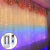 LED Lichtervorhang 1.5 x 2Meters, Etmury 210 LED USB Lichterkettenvorhang mit 8 Modi fr Party Deko...