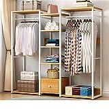 GFBVC Kleiderständer Metall Garment Rack mit Holz-Regale Multifunktionales Schlafzimmer Hängende...