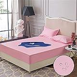 RESUXI matratzenauflage wasserdicht 90x412,Wasserdichter, einteiliger Bettbezug, urinbeständiger,...