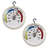 Lantelme 2 Stück Kühlschrankthermometer Set Metallhaken Kühlschrank Gefrierschrank Thermometer...