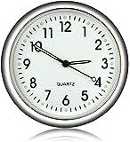 EEEKit Aufklebbare Auto Armaturenbrett Uhr Runde analoge Quarzuhr, Mini leuchtende Quarzuhren...
