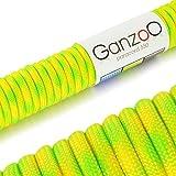 Paracord 550 Seil Neon Lemon   31 Meter Nylon-Seil mit 7 Kern-Stränge   für Armband   Knüpfen von...