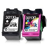 Starink Remanufactured Kompatibel für HP 301 Druckerpatronen 301XL Multipack für HP DeskJet 1000...