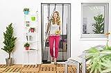 Wirksamer Insektenschutz: Lamellenvorhang aus Filatec-Gewebe 100 x 220 cm, Fliegengitter mit 4...
