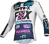 FOX 180 CZAR Motocross Jersey Hellgrau L