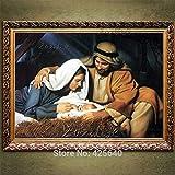 ganlanshu Rahmenloses GemäldeHome Decor Gemälde von Jesus Porträt Art Deco Gemälde von Jesus...