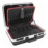 STIER Werkzeugkoffer Basic leer, ABS-Kunststoff Kofferschale, schwarze Werkzeugkiste, stabil &...