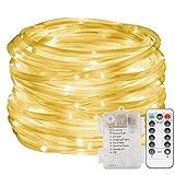 LED Lichterschlauch 10M 100 LED Lichter mit 8 Modi Innen und Außenbereich Lauflichter für Saal,...