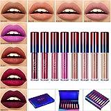 Matt Nude Lipgloss Set,Afflano Lippenstifte Matte Liquid Lipstick Make up 8 Stück,Langanhaltend und...