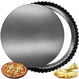 FANDE Tarteform, Quicheform, Köstlichen Obstkuchenform 30 cm, Runde Tart Quiche Pfanne mit...