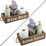 Vero Home Goods Nice Butt Badezimmer-Dekorationsbox, 2 Seiten, rustikale Holzkiste,...