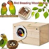 Sittich Nistkasten Lovebirds Papageien Paarung Box Vogelhaus Wood Breeding Box Großes Kreatives...
