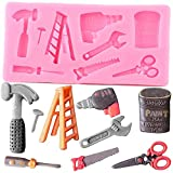 FGHHT Repair Tool LadderWrench Silicone Mold Cupcake Topper Fondant Cake Decorating Tools...