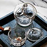 JANRON Bonboniere Glasschale Kristallschale mit Klarglas-Vorratsglsern Bunter Glas Candy Jar Deckel...