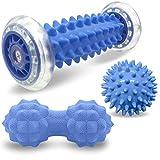 Osaloe Fußmassageroller, Massageball Set aus Igelball und Verbundenem Faszienball - Stress...