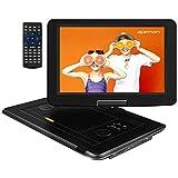 APEMAN 15,5'' mit Tragbarer DVD Player Auto Eingebautem 6000mAh Portable CD Player 6 Stunden Akku HD...