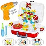 Dreamon Mosaik Steckspiel, 3D Puzzle Spielzeug mit Elektrische Bohrmaschine Pädagogisch...
