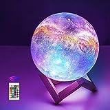 15cm LED Mond Lampe mit Fernbedienung,OxyLED Sternenhimmel Dekoleuchte 3D Mond Kunst LED RGB...