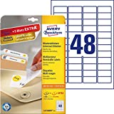 AVERY Zweckform L4736REV-25 Universal Etiketten (1.200 plus 240 Klebeetiketten extra, 45,7x21,2mm...