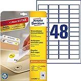 AVERY Zweckform L4736REV-25 Universal-Etiketten (45,7 x 21,2mm auf DIN A4, wieder rckstandsfrei...