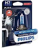 Philips 12972CVUBW Crystalvision Ultra Moto H7 Motorrad-Scheinwerferlampe, 1 Stück