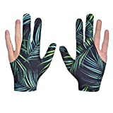 XLKJ 1 Paar Billardhandschuhe Unisex Queuehandschuhe 3 Finger Snooker Handschuh für Billard...